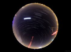 360-degree night sky image in Almada, Portugal