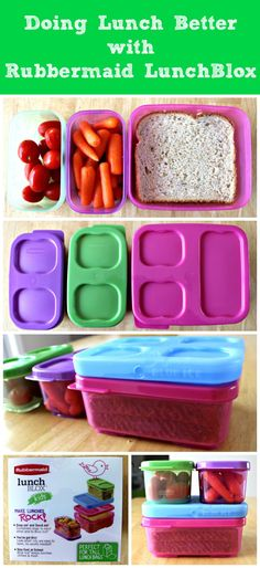 Doing Lunch Better with Rubbermaid LunchBlox #BetterLunchInASnap #sponsored
