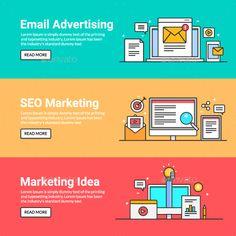 Digital Marketing Web Banners - Web Elements Vectors Download here : https://graphicriver.net/item/digital-marketing-web-banners/19628339?s_rank=131&ref=Al-fatih