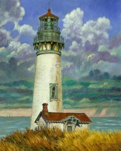 abandoned houses in florida | Abandoned Lighthouse Painting - Abandoned Lighthouse Fine Art Print