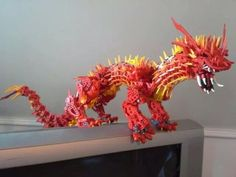 The feiry Blastous Dragon I don't normally go in for Bionicle but this is amazing. Look at the color gradations.