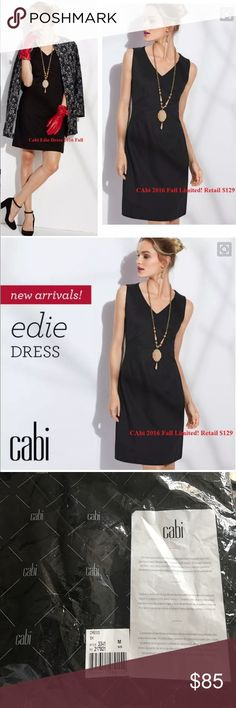 Cabi Fall 2016 Limited Edition Edie Dress Beautiful new in bag Fall Black Dress/75% Rayon/22% Nylon/3% Spandex/machine washable CAbi Dresses