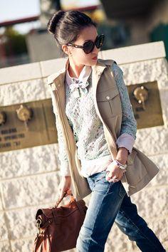 From blog entry: http://www.wendyslookbook.com/2012/04/pretty-pastels-blush-blouse-aqua-mint-bow/