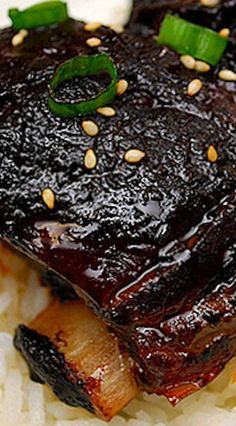 Korean Style Short Ribs (Crockpot) What's Cookin' Chicago – Korean Style Short Ribs recipe More from my siteOur 24 Best Rib Eye Steak Recipes Our 24 Best Rib Eye Steak Recipes Steak Au Poivre with Red Wine Pan Sauce Pork Recipes, Slow Cooker Recipes, Asian Recipes, Cooking Recipes, Cooking Dishes, Recipies, Smoker Recipes, Spareribs, Slow Cooker Ribs