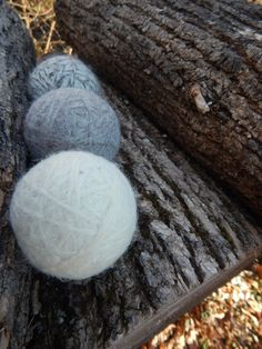 Set of 6 Neutral Color Wool Dryer Balls with FREE by PureGRACESoap