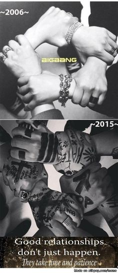 """Good relationships don't just happen. They take time and patience"" BigBang"