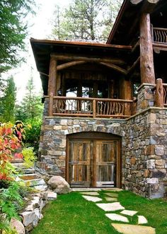 beautiful rustic home design to make your home classy and unique 20 > Fieltro.Net 48 Beautiful R Rustic Home Design, Rustic Homes, Rustic Cabins, Log Cabin Homes, Log Cabins, Cabins And Cottages, Stone Cottages, Stone Houses, Mountain Homes