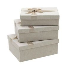 Storage Box Set Of 3 Pieces - Boxes - Baskets - DECORATIONS - inart