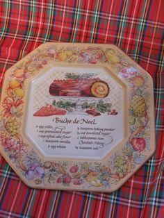 Avon Recipe Plate Hospitality Sweets Recipe Plate Buche De