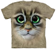 big eyes kitten face t-shirt women's stonewashed multicolored graphic tee from ShopHereSave Cute Kittens, Cats And Kittens, Kitten Eyes, Big Face, Big Eyes, Cat Lovers, Classic T Shirts, Graphic Tees, T Shirts For Women