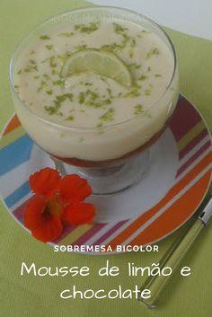mousse bicolor: delicioso mousse de chocolate e mousse de limão