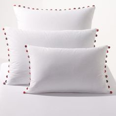 Pack of 2 Patati Cotton Percale Pillowcases
