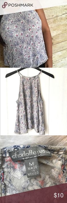 ❄️sale ❄️ floral Charlotte Russe tank top ▪️like new ▪️measurements upon request  ▪️always fast shipping  ▪️SAVE 💲 when bundling  ▪️don't be afraid to make me an offer we always can work out a deal 😍💋 Charlotte Russe Tops Blouses