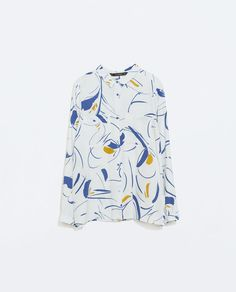 ZARA - WOMAN - PRINTED BLOUSE WITH BACK TIES