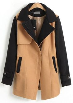 Camel Notch Lapel Long Sleeve Wrap Wool Coat Bentley This is a nice coat. Fall Outfits, Casual Outfits, Fashion Outfits, Womens Fashion, Casual Clothes, Mode Style, Style Me, Diy Schmuck, Sweater Weather