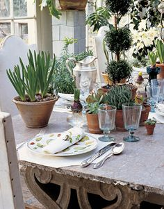 A natural table setting