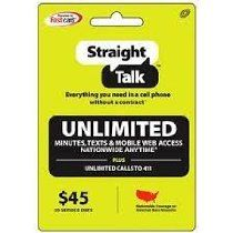 Straight Talk offer Straight Talk $45 30 Day Service Card (Mail Delivery). This awesome product currently limited units, you can buy it now for  $49.99, You save - New