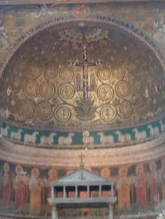 The San Clemens. The sheep in the middle represents Jesus