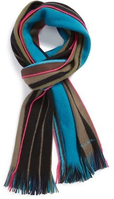 7751af5e8452a Paul Smith Striped Scarf on shopstyle.com Suits You Sir, Striped Scarves,  Cashmere