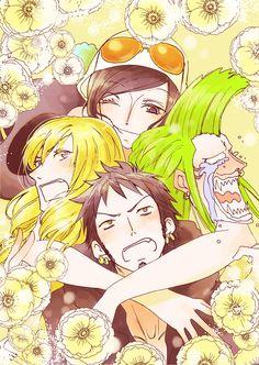 One Piece: Mama Robin taking care of three baby birds ^-^