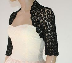 Wedding Dress Shrugs, Wedding Shrug, Shrug For Dresses, Bridal Bolero, Lace Bolero, Bolero Jacket, Crochet Shrug Pattern, Crochet Wedding, Crochet Clothes