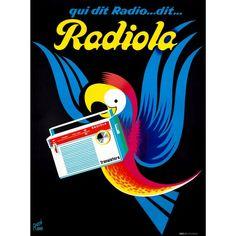 Radiola Vintage Poster (artist: Ravo) France c. 1950 Sizes Art Prints, Giclees, Posters, Wood & M Vintage Advertising Posters, Vintage Advertisements, Vintage Posters, Retro Ads, Radios, Pub Vintage, Vintage Stuff, Stock Art, Oeuvre D'art