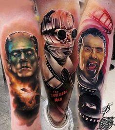 Horror tattoos by Lukasz Bejtu