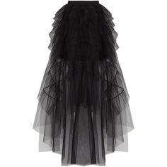 BCBGMAXAZRIA Runway Mireia Skirt ($398) ❤ liked on Polyvore featuring skirts, zip back skirt, back zipper skirt, tiered skirts and bcbgmaxazria