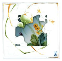 Wandbild, Blattmotiv Pflanzen im Wald, Schlüsselblume, 15 x 15 cm