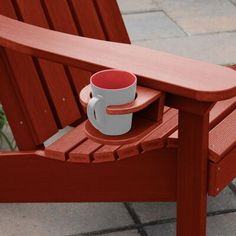Breakwater Bay Pifer Easy-add Cup Holder Colour: Rustic Red