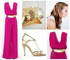 buganvilla & gold outfit   invitadas#boda#cocktail