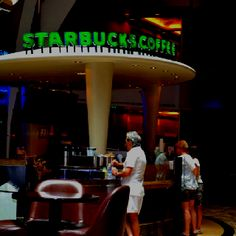Starbucks at Oasis of the Seas - I'm now in heaven knowing there is a Starbucks on board this ship!