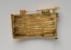 Robert Smit Brosche, 1969 - Gold, Smaragdstäbe - 43x69x4mm - Inv.Nr.352/2006 RS