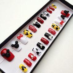 3D Mickey Mouse Nails Short - Doobys Nails