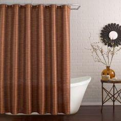 Deron Shower Curtain in Vermillion - BedBathandBeyond.com