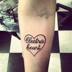 Electra heart tattoo. Diamond forever <3