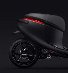 Black Embossed / Debossed Gogoro Handle Logo Matte Part Line Scooter Seamless Transport