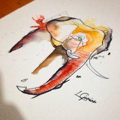 Vibe dos elefantes   abstract elephant • #aquarela #watercolor #abstract #draw #desenho #elefante #elephant #tattoo #tatuagem #lcjunior #arte #art