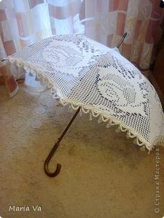 Еще одно из моих увлечений-болезней вязание крючком. Обострения бывают зимой-весной (уже второй год). Вяжу запоем. В прошлом году увлеклась зонтами. Связала и все раздарила))). Этот был самым первым, вязала строго по схеме зонта. фото 5