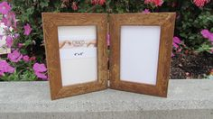 5 x 7 Hinged Rustic Photo Frame by CiracoFramers on Etsy