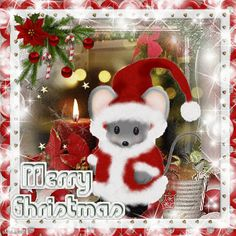 Have yourself a mousey little Christmas ~ Christmas Blingee by stina scott