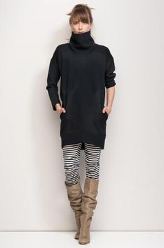 PADDED 65% cotton 35% polyester  PUNCH maxi jumper