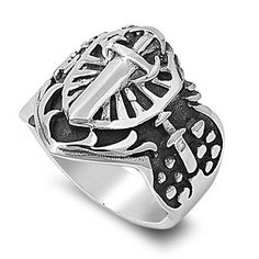 316L Stainless Steel Shield Cross Sword Vintage Men's Ring; Comes With Free Gift Box (14) Jinique http://www.amazon.com/dp/B008VGMYKE/ref=cm_sw_r_pi_dp_5eUewb1HRGVK0