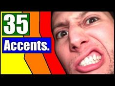 35 accents in English ... This guy's hilarious, and it seems classroom-safe.