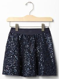 Festive sequin party skirt