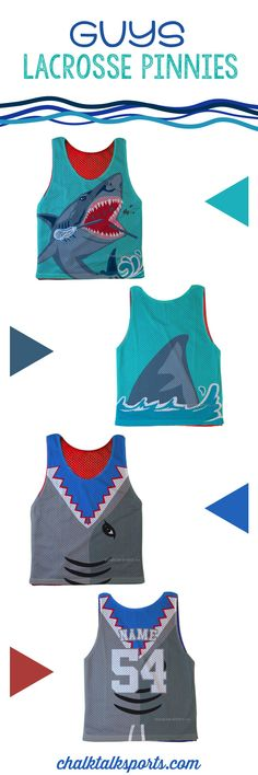 These shark pinnies are perfect for summer! Only from ChalkTalkSPORTS.com!