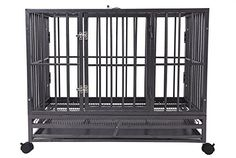 """Merax 48"""" Heavy Duty Pet Dog Cage Crate House,Hammered Silver (48""""W X 33""""L X 37''H) *** Learn more by visiting the image link."""