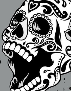 Dia de los Muertos / Day of the Dead Sugar Skull Pop Art