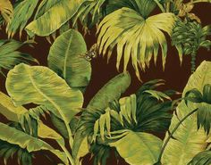 """Wallpaper """"Bananier"""" from Boussac by Pierre Frey use for Corian Cabana Club - Milan Design Week 2017 Pierre Frey, France Wallpaper, Print Wallpaper, Motif Tropical, Tropical Pattern, Tropical Prints, Pattern And Decoration, Graphic Design Art, Leaf Prints"""