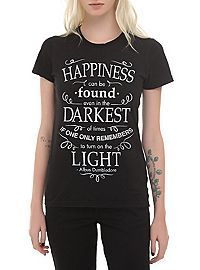 HOTTOPIC.COM - Harry Potter Happiness Quote Girls T-Shirt